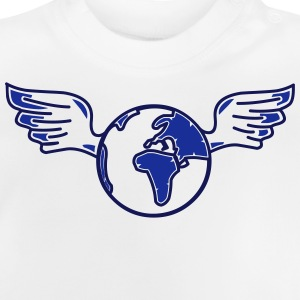 earth with wings Skjorter - Baby-T-skjorte