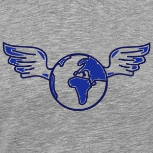 earth with wings Toppe - Herre premium T-shirt