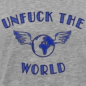unfuck the world Tops - Mannen Premium T-shirt