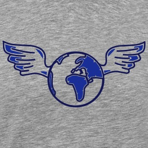 earth with wings Shirts med lange ærmer - Herre premium T-shirt