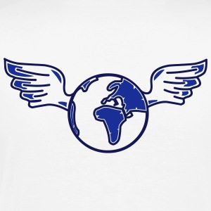 earth with wings Polo skjorter - Premium T-skjorte for menn