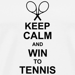 keep_calm_and_win_to_tennis_g1 Tilbehør - Premium T-skjorte for menn