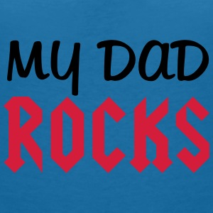 Dad Rocks Accessories - Dame-T-shirt med V-udskæring