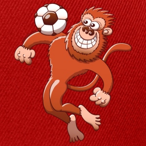 Monkey Trapping a Foot Ball with its Chest T-Shirts - Snapback Cap