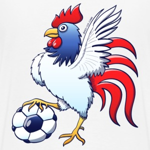 Rooster Posing and Stepping on a Foot Ball Hoodies & Sweatshirts - Men's Premium T-Shirt