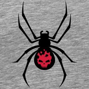A black spider with red skull Long sleeve shirts - Men's Premium T-Shirt