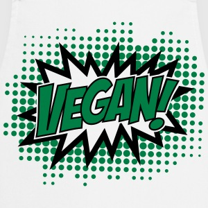 Vegan, Comic Book Style, Green, Explosion, 2c T-shirts - Forklæde