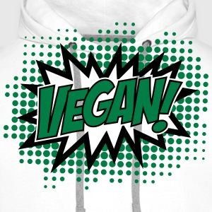Vegan, Comic Book Style, Green, Explosion, 2c T-shirts - Mannen Premium hoodie