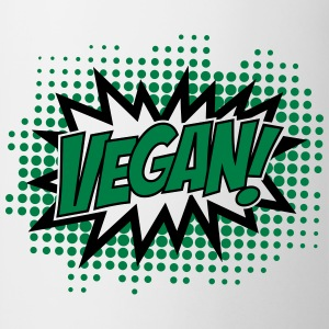 Vegan, Comic Book Style, Green, Explosion, 2c T-shirts - Mok