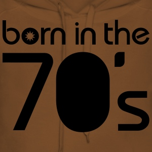 born in the 70´s T-shirts - Dame Premium hættetrøje