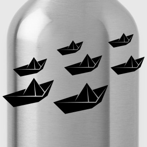 Paper ship fleet T-Shirts - Water Bottle