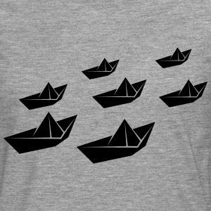 Paper ship fleet T-Shirts - Men's Premium Longsleeve Shirt