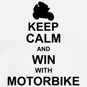keep_calm_and_win_with_motorbyke_g1 Tank Tops - Men's Premium T-Shirt