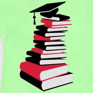 A stack of books with a mortarboard  Shirts - Baby T-Shirt