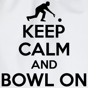 Bowling: Keep calm and bowl on T-shirts - Gymtas
