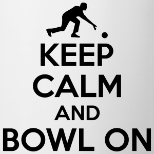 Bowling: Keep calm and bowl on T-shirts - Mok