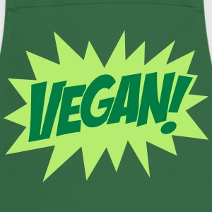 Vegan, Comic Book Style, Green, Explosion,  T-shirts - Forklæde