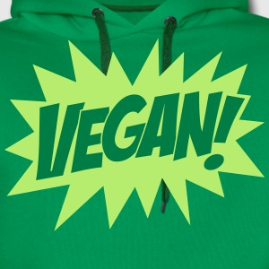 Vegan, Comic Book Style, Green, Explosion,  T-shirts - Mannen Premium hoodie