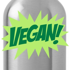 Vegan, Comic Book Style, Green, Explosion,  T-shirts - Drinkfles