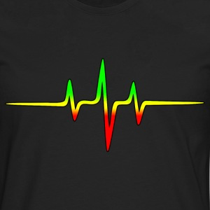 Reggae, music, notes, pulse, frequency, Rastafari Tee shirts - T-shirt manches longues Premium Homme
