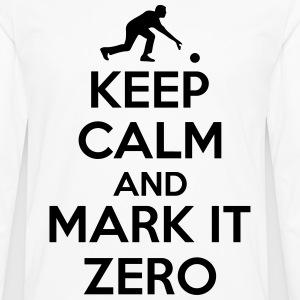 Bowling: Keep calm and mark it zero T-skjorter - Premium langermet T-skjorte for menn