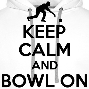 Bowling: Keep calm and bowl on T-shirts - Premiumluvtröja herr