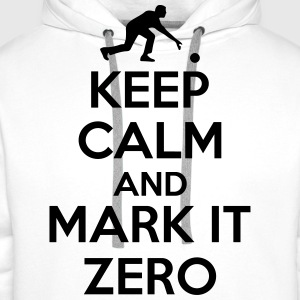Bowling: Keep calm and mark it zero T-Shirts - Men's Premium Hoodie
