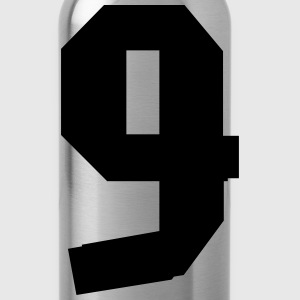9 Italy Number, Nummer, cairaart.com T-Shirts - Water Bottle