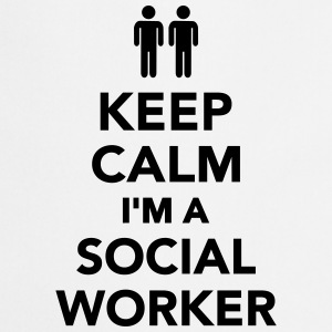 Keep calm I'm Social worker T-Shirts - Kochschürze
