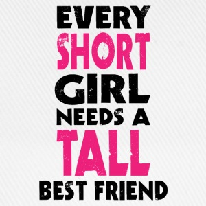 (SHORT GIRL - TALL GIRL) BFF T-Shirts - Baseball Cap