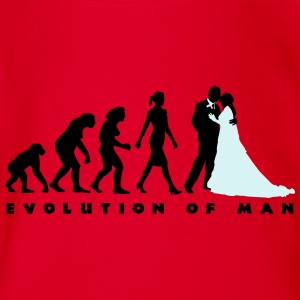 evolution_of_woman_wedding_b_2c T-Shirts - Baby Bio-Kurzarm-Body