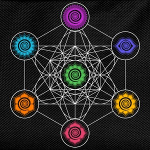 Metatrons Cube, Chakras, Cosmic Energy Centers T-Shirts - Kids' Backpack