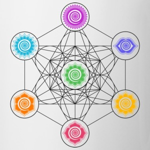 Metatrons Cube, Chakras, Cosmic Energy Centers,  T-Shirts - Tasse