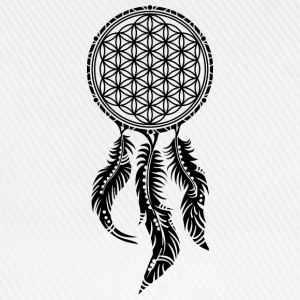 Flower of Life, Dream Catcher Spiritual, Indians T-Shirts - Baseball Cap