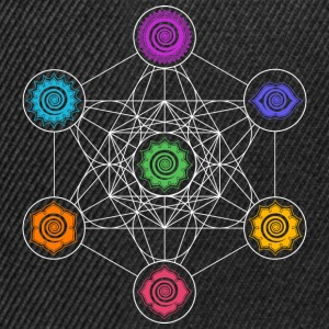 Metatrons Cube, Chakras, Cosmic Energy Centers Manches longues - Casquette snapback