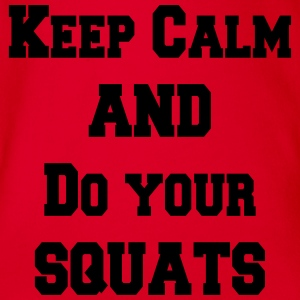 Keep calm and do your squats Shirts - Baby bio-rompertje met korte mouwen