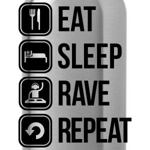 eat sleep rave repeat Tee shirts - Gourde