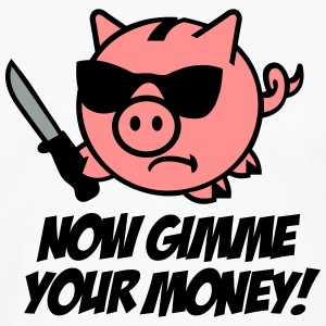 Now gimme your money - Sparschwein T-Shirts - Männer Premium Langarmshirt