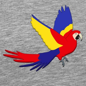Macaw red fly H Sweaters - Mannen Premium T-shirt