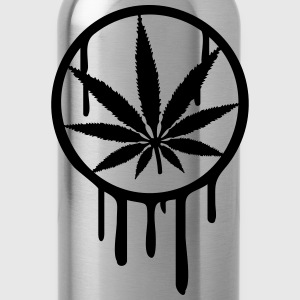 Cool Weed Stempel Design T-Shirts - Water Bottle