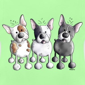 Three French Bulldogs - Bulldog - Dog Hoodies - Baby T-Shirt