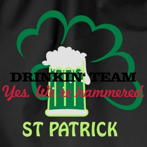 drinkin' team - yes. we're hammered (2c) T-Shirts - Drawstring Bag