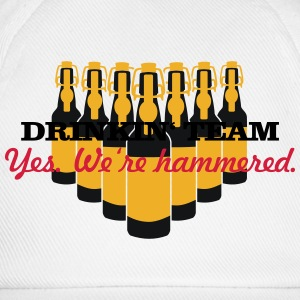 drinkin' team - yes. we're hammered (2c) T-Shirts - Baseball Cap