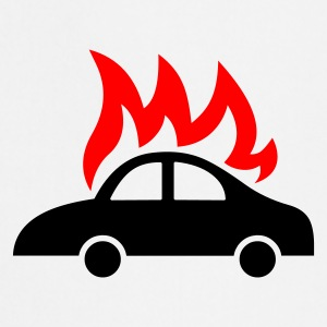 burning car - Delantal de cocina