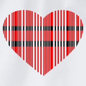 barcode heart 2 colors - Sportstaske