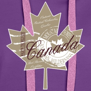 Canadian Maple Leaf T-Shirts - Frauen Premium Hoodie