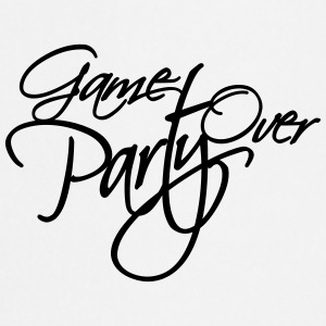 Game Over Party Text logo T-Shirts - Cooking Apron