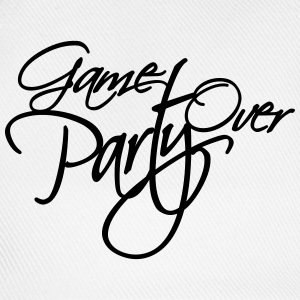 Game Over Party Text logo T-Shirts - Baseball Cap
