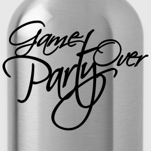 Game Over Party Text logo T-Shirts - Water Bottle