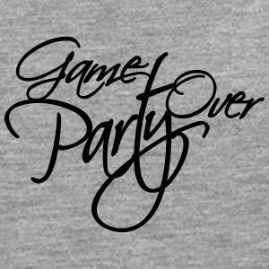 Game Over Party Text logo T-Shirts - Men's Premium Longsleeve Shirt